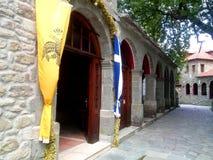 Orthodox church of Agia Paraskevi in Metsovo, Epirus, Greece. stock photos