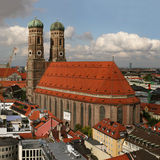 Famous church Frauenkirche in Munich,. Capital of Bavaria in southern Germany, seen from the town hall Frauenkirche in München stock images