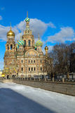 Famous Church In St- Petersburg Stock Images