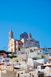 The famous church on the island of Syros Greece Stock Photos