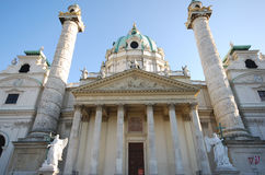 Famous church Karlskirche(Vienna, Austria) Stock Photo