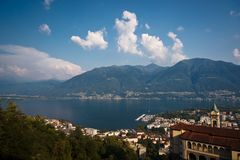 Famous Church of Madonna del Sasso in Locarno Royalty Free Stock Photography