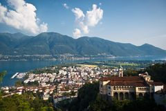 Famous Church of Madonna del Sasso in Locarno Royalty Free Stock Image