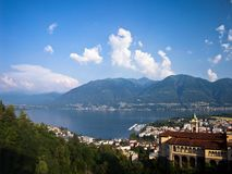 Famous Church of Madonna del Sasso in Locarno Stock Photography