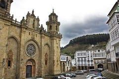 Famous Church in (Mondoñedo, Spain) Stock Image