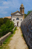 Famous church in Montalcino (Tuscany, Italy) Stock Photo