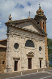 Famous church in Montalcino (Tuscany, Italy) Royalty Free Stock Photos