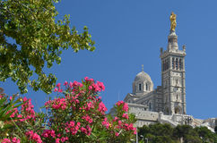 Famous church Notre Dame de la Garde above Marseille Royalty Free Stock Image