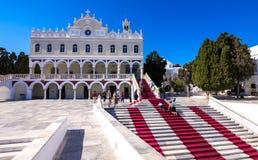 The famous church of Panagia Megalochari Evangelistria, Tinos island, Cyclades. Stock Image