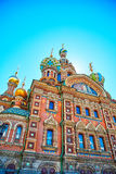 Famous church of the Savior on Spilled Blood in Saint Petersburg. Closeup of famous church of the Savior on Spilled Blood in Saint Petersburg, Russia Royalty Free Stock Photography