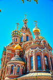 Famous church of the Savior on Spilled Blood in Saint Petersburg. Closeup of famous church of the Savior on Spilled Blood in Saint Petersburg, Russia Stock Photography