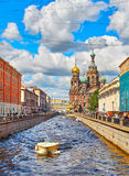Famous church of the Savior on Spilled Blood in Saint Petersburg Royalty Free Stock Image
