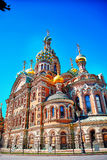 Famous church of the Savior on Spilled Blood in Saint Petersburg Royalty Free Stock Photo