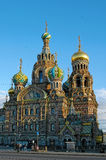Famous church of the Savior on Spilled Blood in Saint Petersburg, Russia. Stock Images