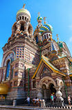 Famous Church of the Savior on Spilled Blood in St. Petersburg, Stock Images
