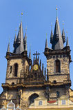 Famous Church  Tyn in Prague Royalty Free Stock Photos