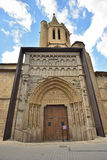 Famous churches of the ancient Spanish town Sanguesa Stock Photos