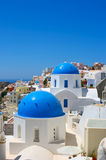 Famous churches of Santorini Stock Image