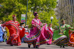 The famous Cinco de Mayo Parade. Denver, MAY 8: The famous Cinco de Mayo Parade on MAY 8, 2017 at Denver, Colorado Stock Photo