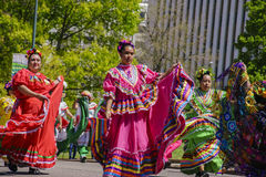 The famous Cinco de Mayo Parade. Denver, MAY 8: The famous Cinco de Mayo Parade on MAY 8, 2017 at Denver, Colorado Royalty Free Stock Image