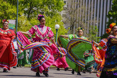 The famous Cinco de Mayo Parade Royalty Free Stock Photo