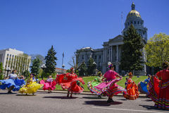 The famous Cinco de Mayo Parade. Denver, MAY 8: The famous Cinco de Mayo Parade on MAY 8, 2017 at Denver, Colorado Stock Image