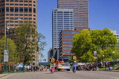 The famous Cinco de Mayo Parade. Denver, MAY 8: The famous Cinco de Mayo Parade on MAY 8, 2017 at Denver, Colorado Royalty Free Stock Images