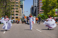 The famous Cinco de Mayo Parade Royalty Free Stock Photography