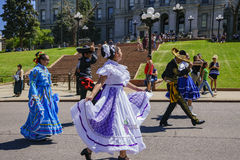 The famous Cinco de Mayo Parade. Denver, MAY 8: The famous Cinco de Mayo Parade on MAY 8, 2017 at Denver, Colorado Royalty Free Stock Photos