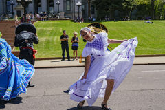 The famous Cinco de Mayo Parade. Denver, MAY 8: The famous Cinco de Mayo Parade on MAY 8, 2017 at Denver, Colorado Stock Photos