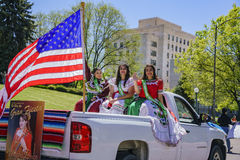 The famous Cinco de Mayo Parade. Denver, MAY 8: The famous Cinco de Mayo Parade on MAY 8, 2017 at Denver, Colorado Royalty Free Stock Photo