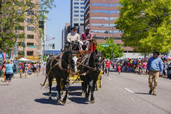 The famous Cinco de Mayo Parade. Denver, MAY 8: The famous Cinco de Mayo Parade on MAY 8, 2017 at Denver, Colorado Royalty Free Stock Photography