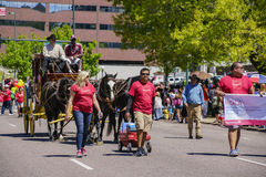 The famous Cinco de Mayo Parade Royalty Free Stock Images