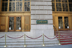 Famous Cipriani 25 Broadway Italian restaurant in Lower Manhattan. NEW YORK - AUGUST 3, 2017: Famous Cipriani 25 Broadway Italian restaurant in Lower Manhattan Royalty Free Stock Photos