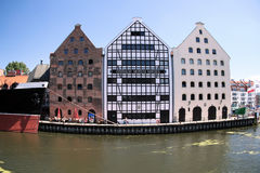 Famous cities in  Poland - Gdansk - Danzig. Port city at Baltic sea - Gdansk. Monuments in old town Stock Image