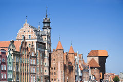 Famous cities in  Poland - Gdansk - Danzig. Royalty Free Stock Photo