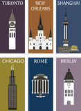 Famous cities 2. Royalty Free Stock Images