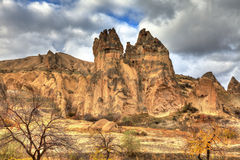 Famous city  Cappadocia in Turkey Royalty Free Stock Image
