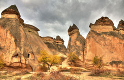 Famous city  Cappadocia in Turkey. The Hittites settled Cappadocia from 1800 BC to 1200 BC, after which smaller kingdoms held power. Then came the Persians Stock Photos