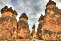 Famous city  Cappadocia in Turkey Stock Photography
