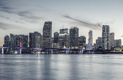 Famous cIty of Miami, special photographic processing. Royalty Free Stock Images