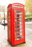 Famous classic English red telephone box Stock Photography