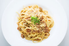 Famous classic italian 4beef bolognese bolognaise spaghetti Royalty Free Stock Photo