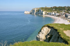 Famous cliffs of Etretat in France Royalty Free Stock Image
