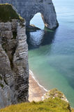 Famous cliffs of Etretat in France Royalty Free Stock Photos