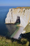 Famous cliffs of Etretat in France Royalty Free Stock Photo