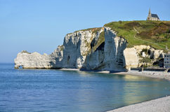 Famous cliffs of Etretat in France Royalty Free Stock Images