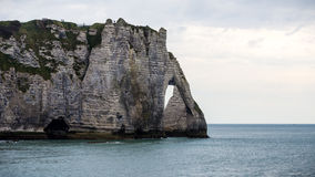 The famous cliffs at Etretat in Normandy, France Stock Image