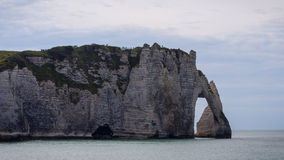 The famous cliffs at Etretat in Normandy, France. The famous cliffs at Etretat in Normandy Stock Images