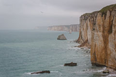 Famous cliffs in Etretat Stock Photography